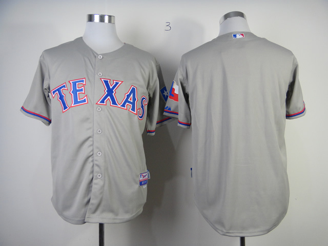 MLB Texas Rangers Blank Grey Jerseys