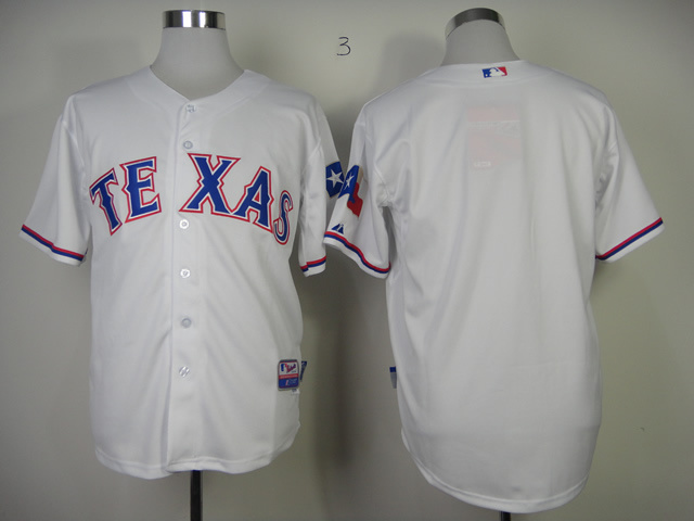 MLB Texas Rangers Blank White Jerseys