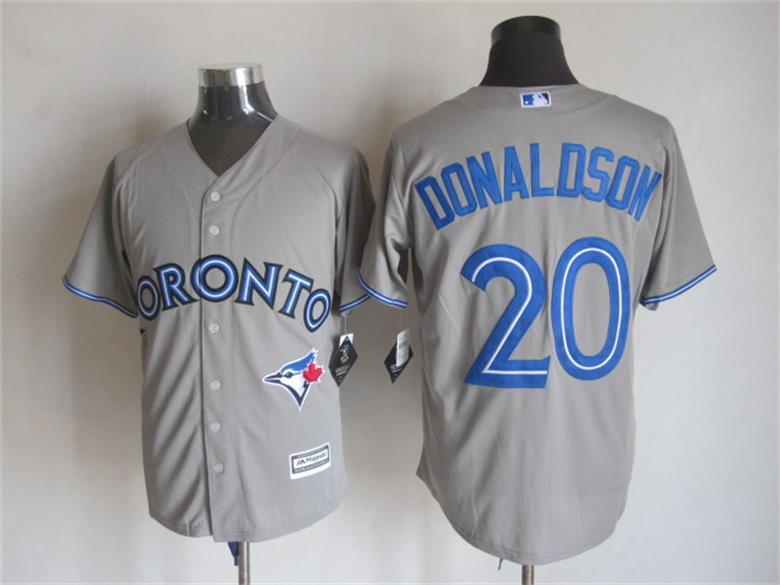 MLB Toronto Blue Jays 20 Donaldson Grey 2015 Jerseys