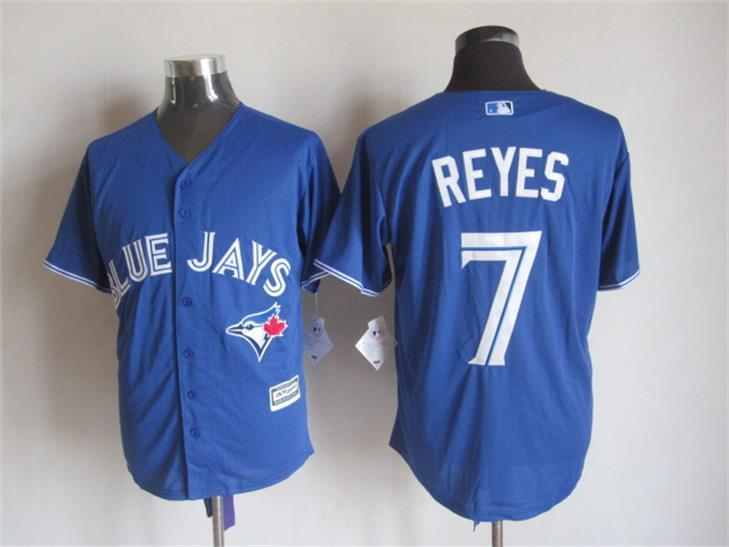MLB Toronto Blue Jays 7 Reyes Blue 2015 Jerseys