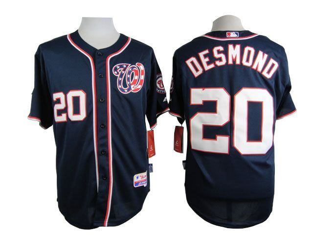 MLB Washington Nationals 20 Desmond Blue 2015 Jerseys