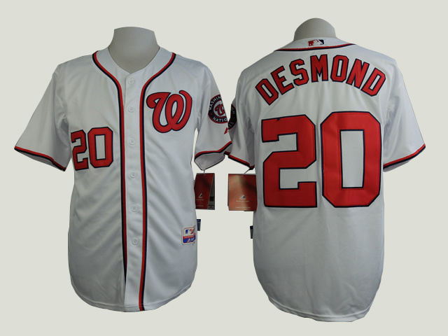 MLB Washington Nationals 20 Desmond White 2015 Jerseys