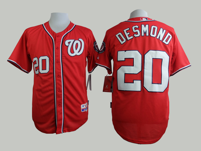 MLB Washington Nationals 20 Desmond red 2015 Jerseys