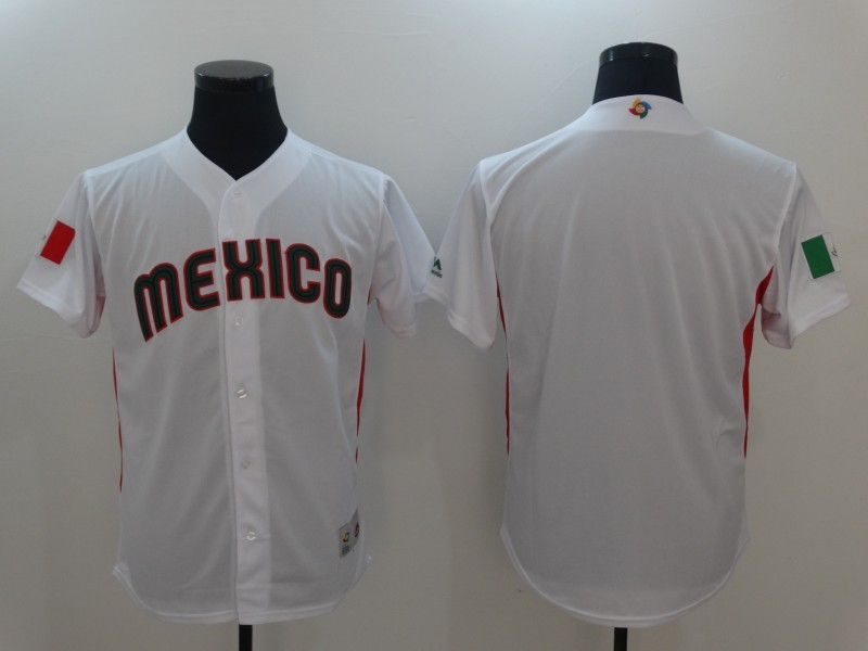 d61d18a5e1c Men Mexico Baseball Majestic White 2017 World Baseball Classic Authentic  Team Jersey