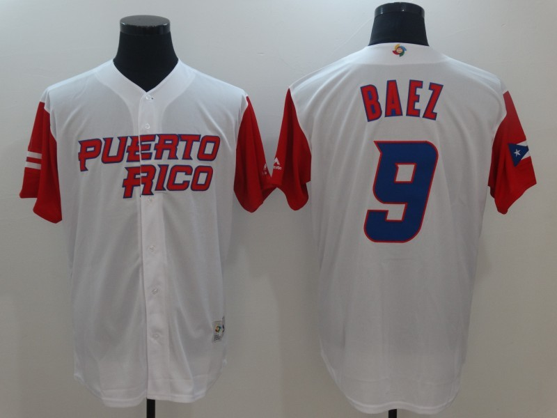 innovative design 75ff6 76e8b ireland mens puerto rico baseball 9 javier baez majestic ...