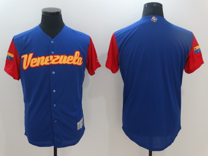 Men Venezuela Baseball Majestic Royal 2017 World Baseball Classic Replica Team Jersey