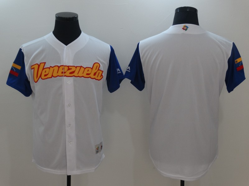 Men Venezuela Baseball Majestic White 2017 World Baseball Classic Authentic Team Jersey