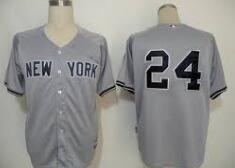 2016 New York Yankees 24 grey jerseys