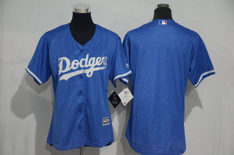 Womens 2017 MLB Los Angeles Dodgers Blank Blue Jerseys