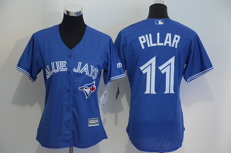 Womens 2017 MLB Toronto Blue Jays 11 Pillar Blue Jerseys