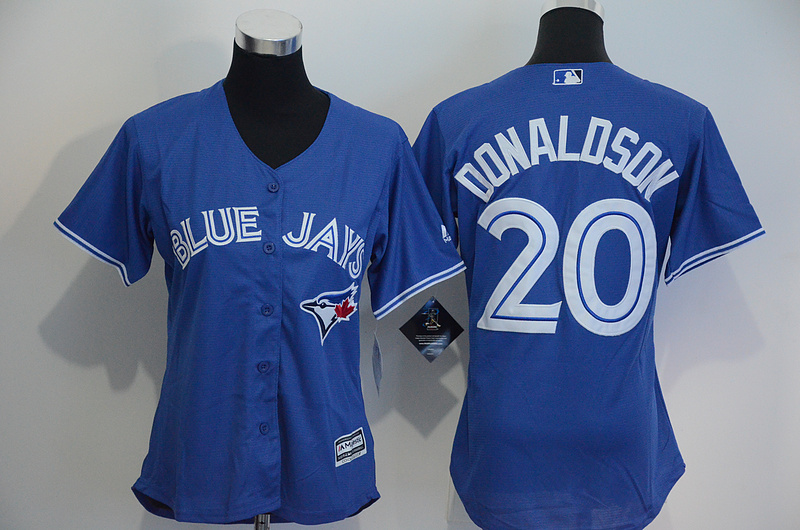 Womens 2017 MLB Toronto Blue Jays 20 Donaldson Blue Jerseys
