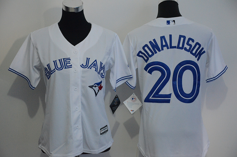 Womens 2017 MLB Toronto Blue Jays 20 Donaldson White Jerseys