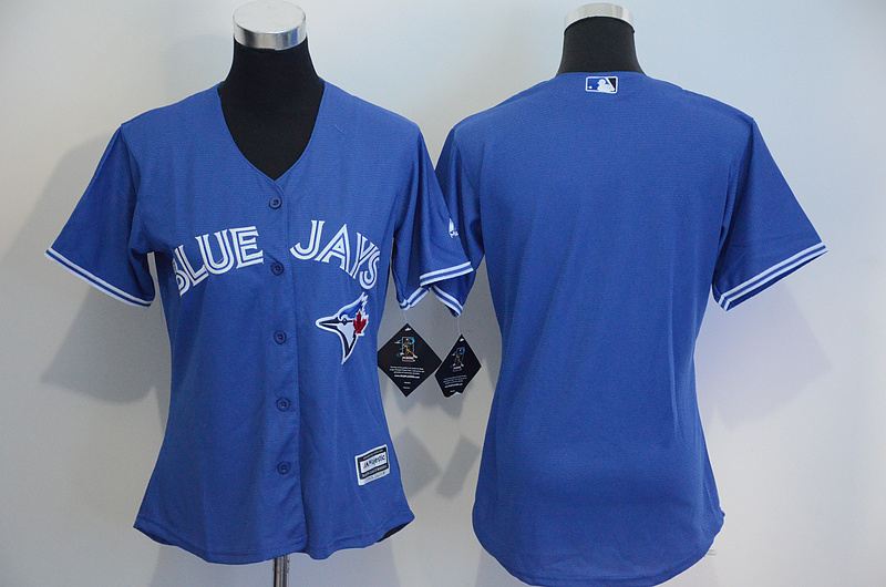 Womens 2017 MLB Toronto Blue Jays Blank Blue Jerseys