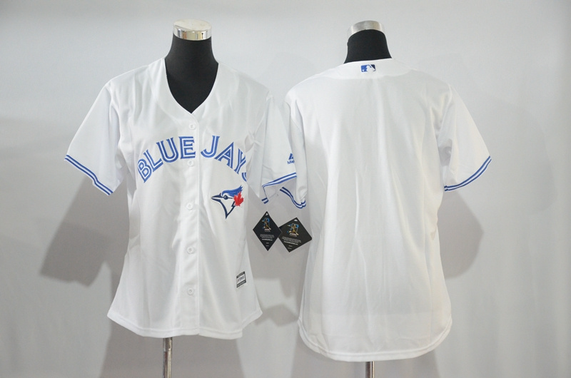 Womens 2017 MLB Toronto Blue Jays Blank White Jerseys