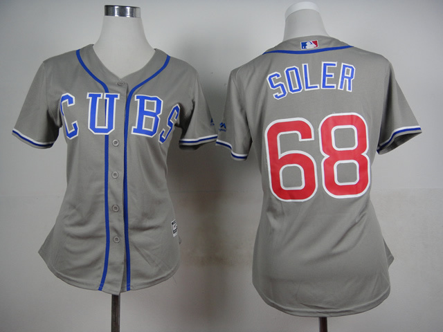 Womens MLB Chicago Cubs 68 Soler Grey 2015 Jerseys