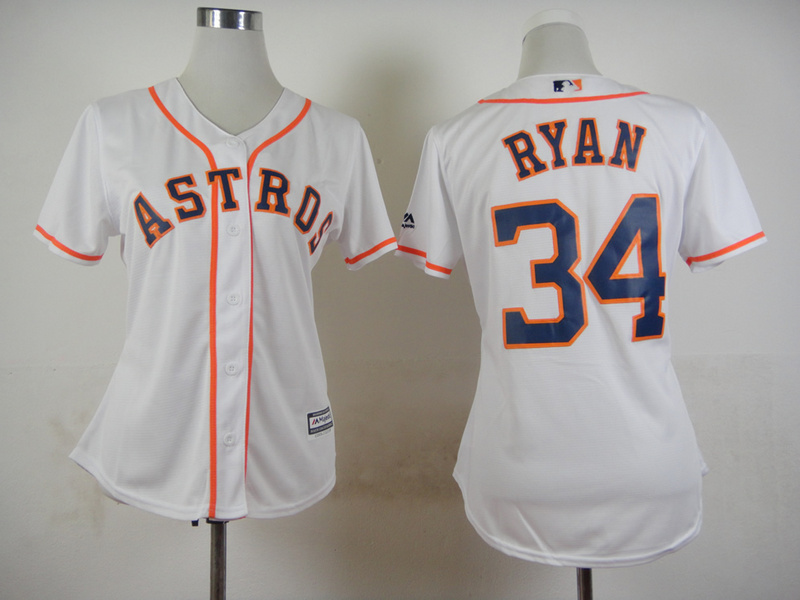 Womens MLB Houston Astros 34 Nolan Ryan White 2015 Jerseys