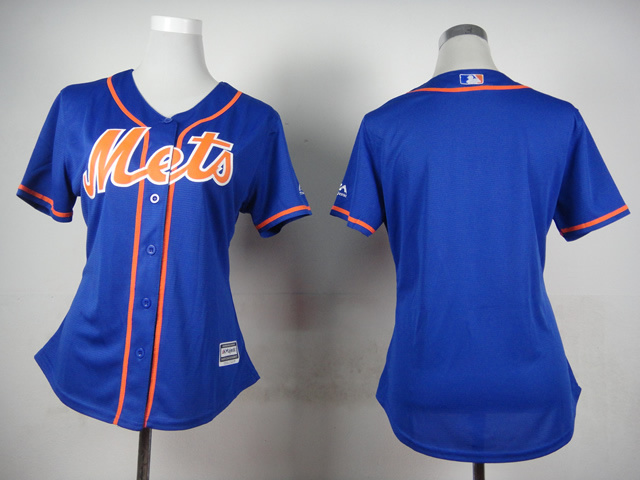 Womens MLB New York Mets Blank Blue 2015 Jerseys