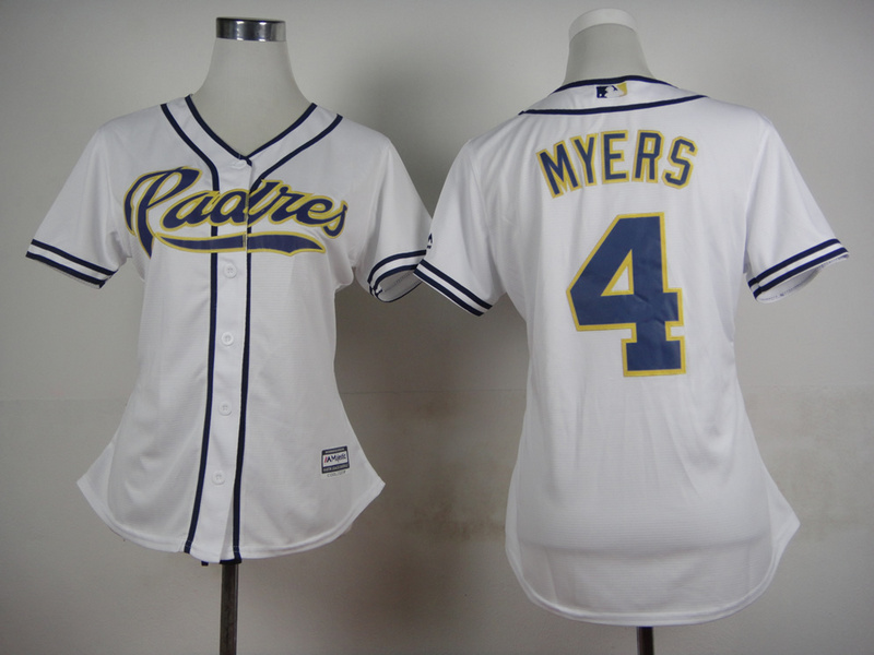 Womens MLB San Diego Padres 4 Myers White 2015 Jerseys