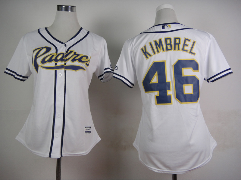 Womens MLB San Diego Padres 46 Kimbrel White 2015 Jerseys