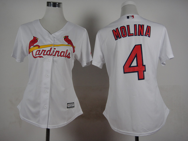 Womens MLB St. Louis Cardinals 4 Molina White 2015 Jerseys