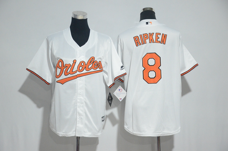 Youth 2017 MLB Baltimore Orioles 8 Ripken White Jerseys