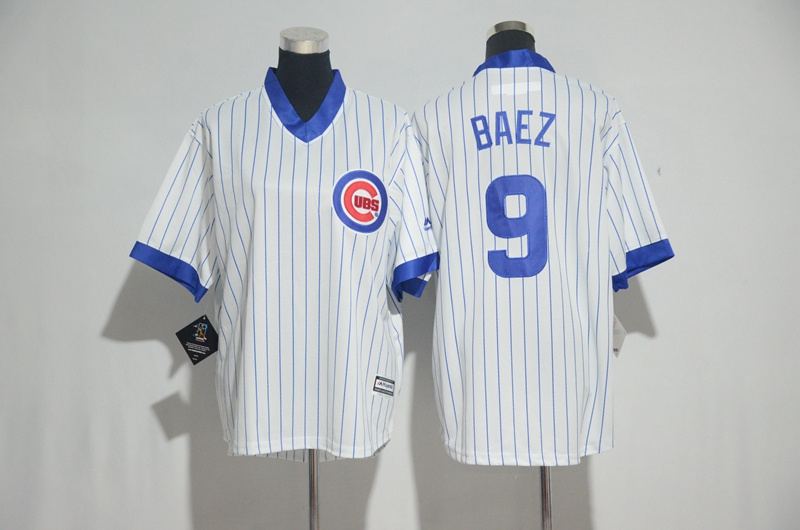 Youth 2017 MLB Chicago Cubs 9 Baez White Jerseys