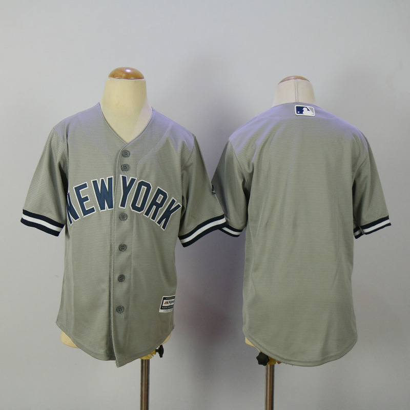 Youth 2017 MLB New York Yankees Blank Grey Jerseys
