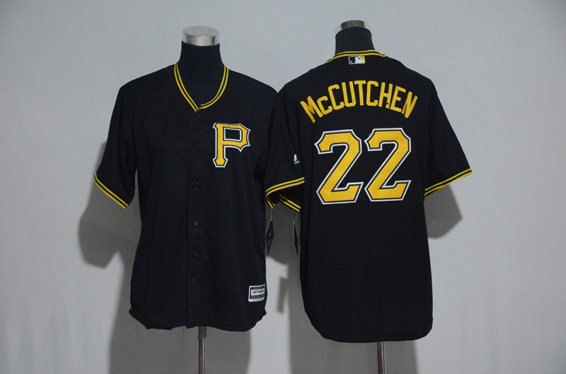 Youth 2017 MLB Pittsburgh Pirates 22 Mccutchen Black Jerseys