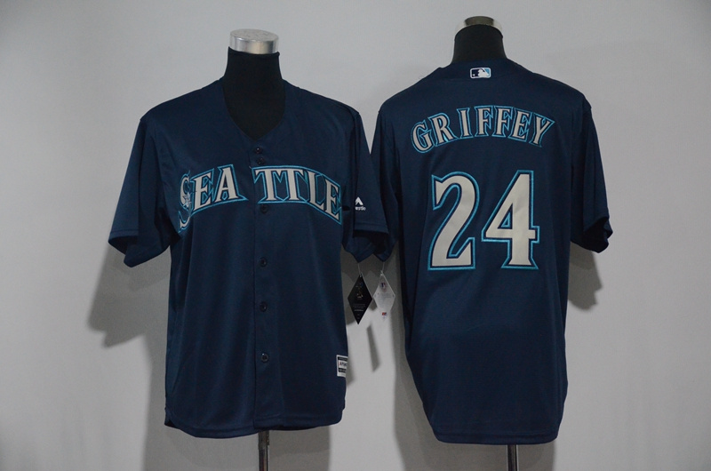 Youth 2017 MLB Seattle Mariners 24 Griffey Blue Jerseys