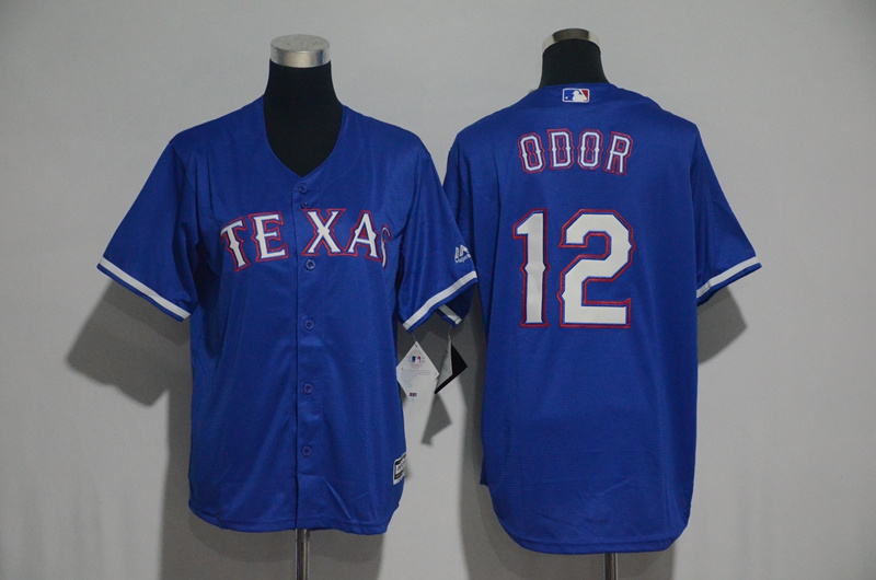 Youth 2017 MLB Texas Rangers 12 Odor Blue Jerseys