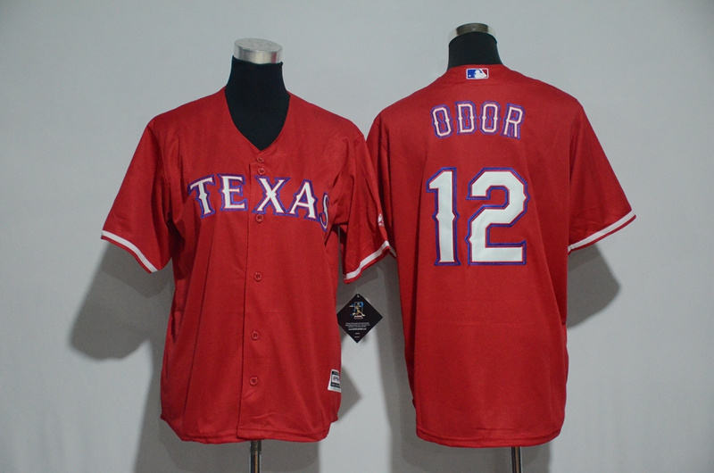 Youth 2017 MLB Texas Rangers 12 Odor Red Jerseys
