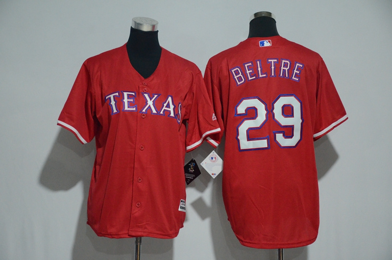 Youth 2017 MLB Texas Rangers 29 Beltre Red Jerseys