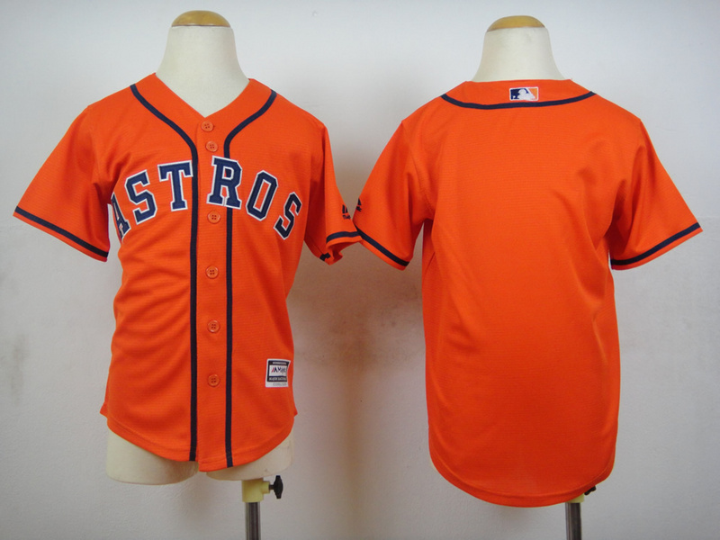 Youth MLB Houston Astros Blank Orange 2015 Jerseys