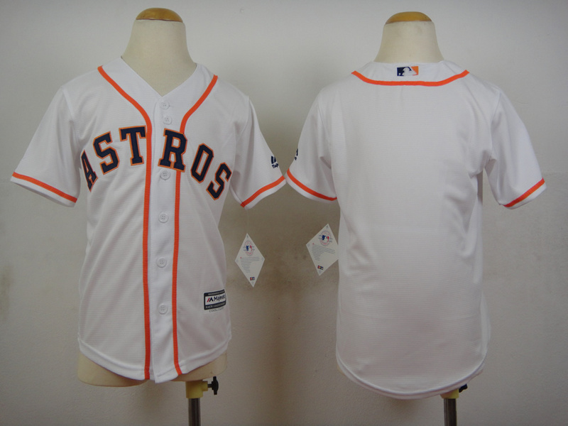 Youth MLB Houston Astros Blank White 2015 Jerseys