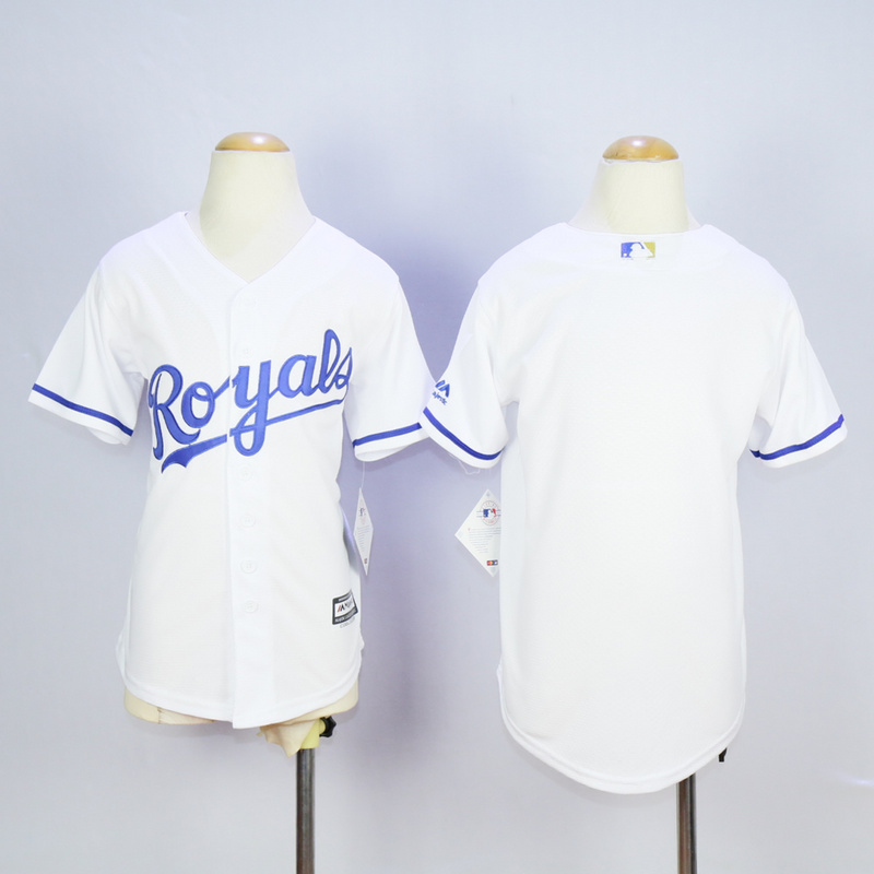 Youth MLB Kansas City Royals White 2015 Jerseys
