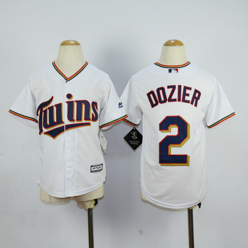 Youth MLB Minnesota Twins 2 Dozier White 2015 Jerseys