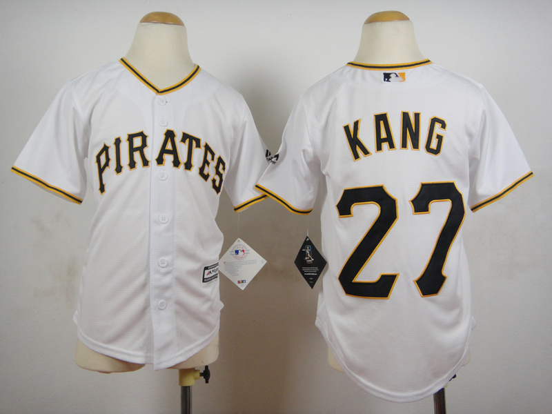 Youth MLB Pittsburgh Pirates 27 Kang White 2015 Jerseys