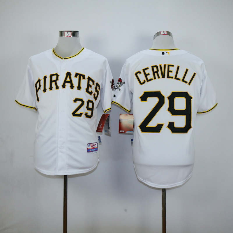 Youth MLB Pittsburgh Pirates 29 Francisco Cervelli White 2015 Jerseys