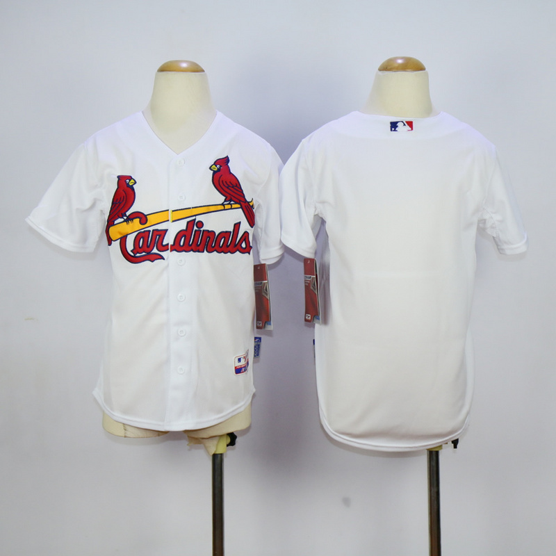 Youth MLB St. Louis Cardinals Blank White 2015 Jerseys