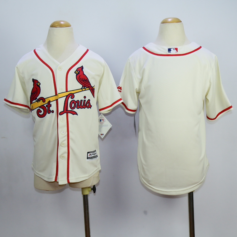 Youth MLB St.Louis Cardinals Blank Gream 2015 Jerseys