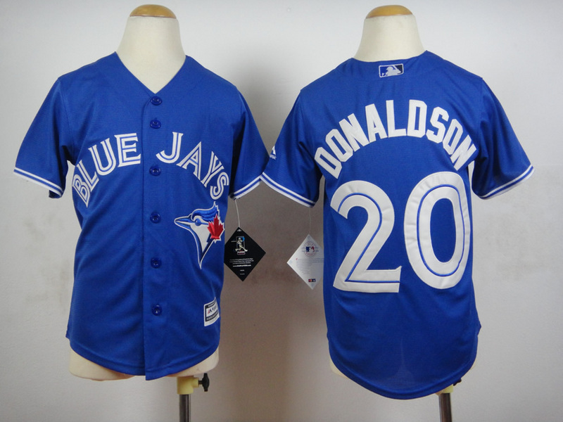 Youth MLB Toronto Blue Jays 20 Donaldson Blue 2015 Jerseys