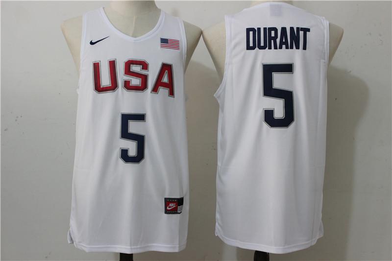 2016 Nba 5 Durant Dream Team Usa White Jersey 201605230002593