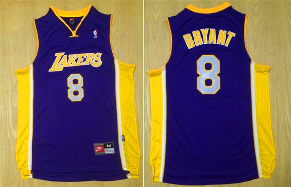 2016 NBA Los Angeles Lakers 8 Bryant Purple jerseys