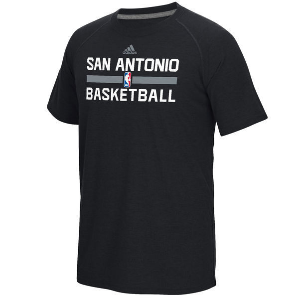 2016 NBA San Antonio Spurs adidas On-Court Climalite Ultimate T-Shirt - Black