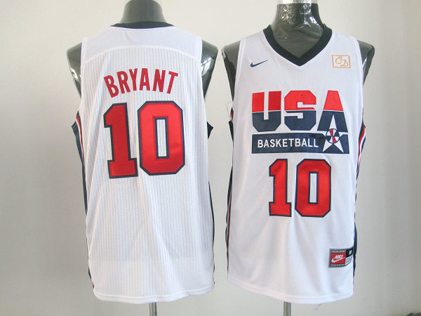 2016 NBA USA 10 Drexler white jerseys