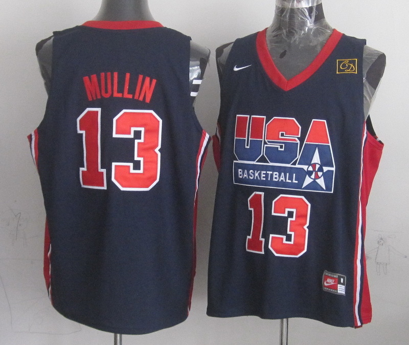 2016 NBA USA 13 Mullin Blue jerseys