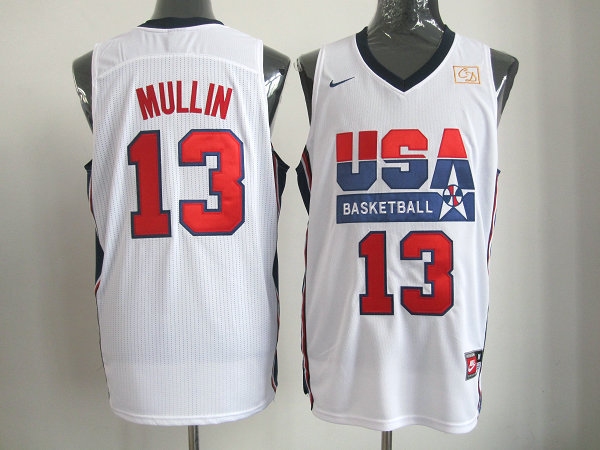 2016 NBA USA 13 Mullin white jerseys.