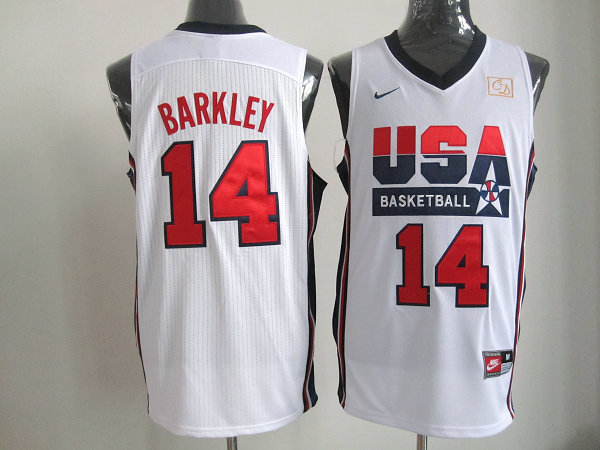 2016 NBA USA 14 Barkley White jerseys