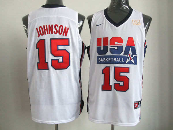 2016 NBA USA 15 Johnson White jerseys