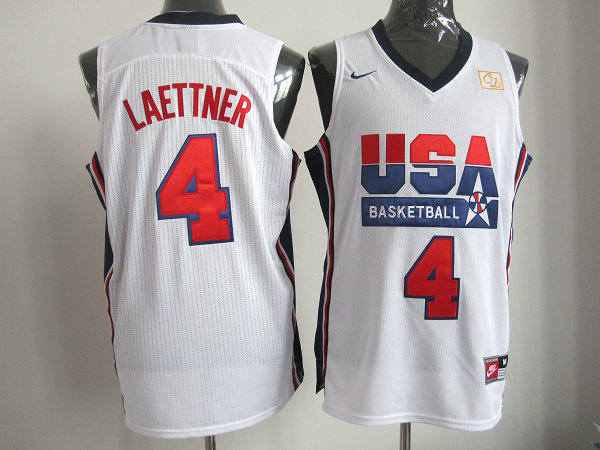 2016 NBA USA 4 Laettner white jerseys